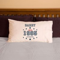 30th Birthday Established Since (Year) Pillowcase For Him - 30th Gifts