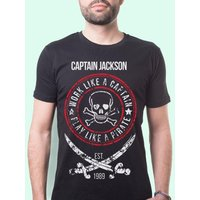 Mens Pirate Themed Customised T-Shirt - Pirate Gifts