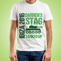 Personalised Mens Tanked Up Stag Do Tee - Stag Night Gifts