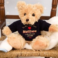 Personalised God Son Teddy Bear - Son Gifts
