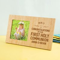 Personalised First Holy Communion Wooden Photo Frame - First Holy Communion Gifts