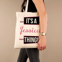 Its a Name Thing Custom Shopper Bag - 16th Birthday Gifts