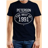 Customised The Best Of...Mens Navy T-Shirt - 40th Birthday Gifts
