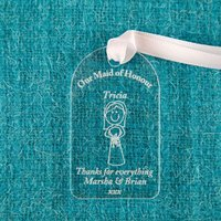 Maid of Honour Acrylic Gift Tag - Maid Of Honour Gifts