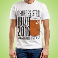 Customised Pint Themed Stag Do Tee - Stag Night Gifts