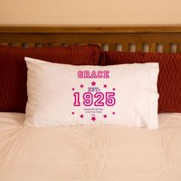 90th Birthday Established Year Pillowcase For Her - 90th Birthday Gifts