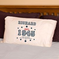 70th Birthday Established Since (Year) Pillowcase For Him - 70th Birthday Gifts
