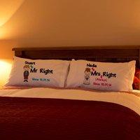 Scottish Mr Right & Mrs Always Right Pillowcase Set - Forever Bespoke Gifts