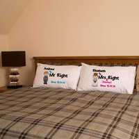 Personalised Mr Right & Mrs Always Right Pillowcase Set - Forever Bespoke Gifts