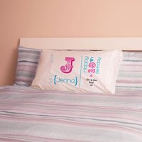 Personalised 18th Birthday Letter Pillowcase For Girls - 18th Gifts