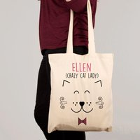 Personalised Crazy Cat Lady Shoulder Bag - Shoulder Bag Gifts