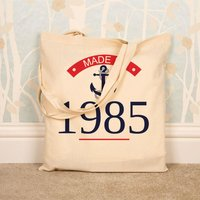 Personalised Made In Year Shopper Bag - 70th Birthday Gifts