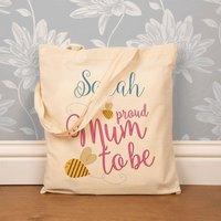 Custom Made Mum to Be Cotton Shopper - Custom Gifts