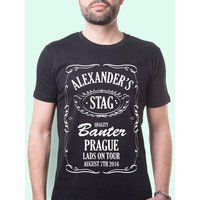 Bourbon Label Personalised Mens T-Shirt - Bourbon Gifts