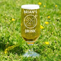 21st Drink Personalised Beer Glass - 21st Gifts