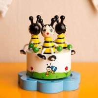 Merry Go Round Bee Music Box - Music Gifts