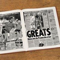 Custom Wolverhampton Wanderers Football Club Headline Book - Custom Gifts