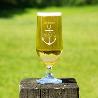 Personalised Anchor Glass Beer Chalice - Beer Gifts