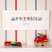 1st Birthday Name Frame Keepsake - 1st Birthday Gifts
