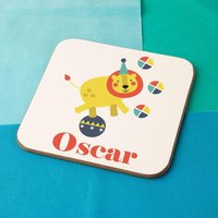 Personalised Circus Lion Drinks Coaster - Lion Gifts