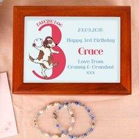 Dog 3rd Birthday Customised Musical Jewellery Box - Jewellery Box Gifts