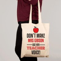 Custom Teacher Voice Shoulder Bag - Shoulder Bag Gifts