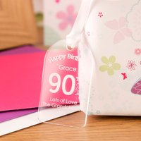 90th Birthday Acrylic Gift Tag - 90th Birthday Gifts