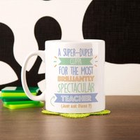 Personalised Best Teacher (Male)...Just Ask Mug - Teacher Gifts