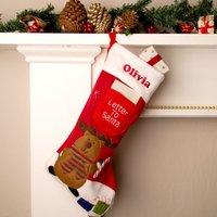 Reindeer Christmas Stocking - Christmas Stocking Gifts