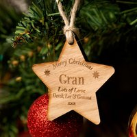 Personalised Wooden Christmas Star Gran - Forever Bespoke Gifts