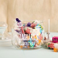 Personalised Sweet Stash Glass Jar - 16th Birthday Gifts