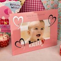 Girls 1st Birthday Glass Frame - 1st Birthday Gifts