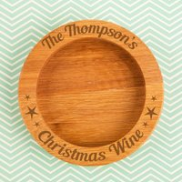 Personalised Family Christmas Wooden Wine Bottle Coaster - Forever Bespoke Gifts