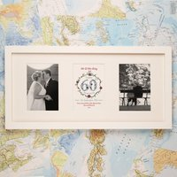 Personalised 60th Diamond Wedding Anniversary 3 Aperture Frame - Wedding Anniversary Gifts