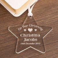 Acrylic Christening Star - Christening Gifts