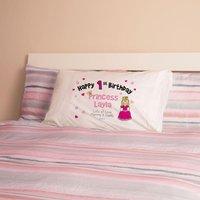 1st Birthday Princess Pillowcase - 1st Birthday Gifts