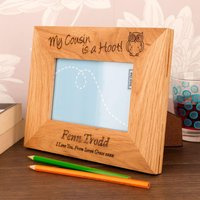 Cousin Is A Hoot Oak Frame - Forever Bespoke Gifts