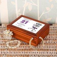 Personalised 21st Birthday Musical Jewellery Box - Jewellery Box Gifts