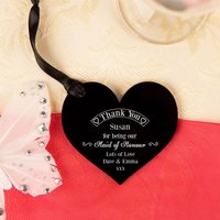 Maid of Honour Thank You Keepsake Acrylic Heart - Maid Of Honour Gifts