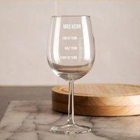 Customised Teacher Wine Glass - Teacher Gifts