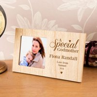Engraved & Personalised Special Godmother Photo Frame - Godmother Gifts