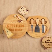 King of the Kitchen Customised Round Cheeseboard - Wedding Gifts