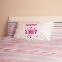 Girls 18th Birthday Established Year Pillowcase - 18th Gifts