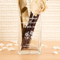 If Grandmas were Flowers Personalised Glass Vase - Forever Bespoke Gifts