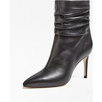 Bewell Real Leather Ankle Boots