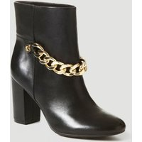 Guess Akon Leather Low Boot With Chain