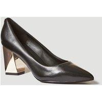 Guess Bafi Court Shoe With Geometric Heel