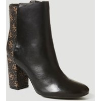 Guess Arrone Leather Low Boot With Logo
