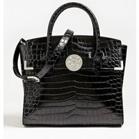 Atlas Genuine Leather Croc-look Handbag
