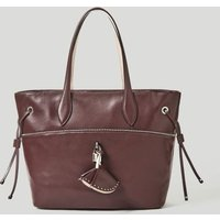 Guess Cleo Leather Shopper With Micro Studs